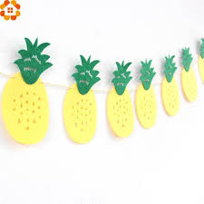Online Shop 1Set <b>Flamingo</b> And Pineapple Bunting Banner ...