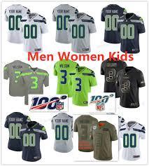 2019 Custom Men Women Kids Seattle 3 Russell Wilson 49 Shaquem Griffin 12 Fan 10 Josh Gordon Seahawk Jerseys Stitched Lady Youth Shirts From