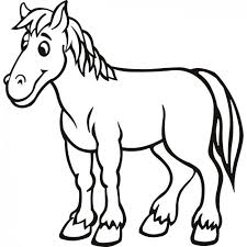 Small Picture Horse Coloring Pages Preschool and Kindergarten