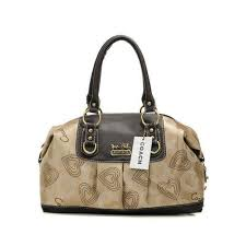 ... czech official coach logo in monogram medium khaki satchels md8014  e6724 9b522 low price coach holiday kelsey in signature medium ivory multi  ...