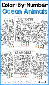 Small Picture Color By Number Ocean Animals Coloring Pages Free coloring