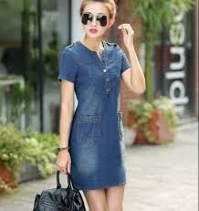 Online Shop Summer 2018 <b>Korean denim</b> female <b>dress with</b> short ...