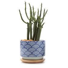 T4U 7.5CM Ceramic japanese Style Serial No.3 Sucuulent Plant Pot/Cactus  Plant