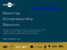 Experiential entrepreneurship education -state of the art (Coneeect S…