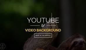 website template video html5 one page template with youtube video background