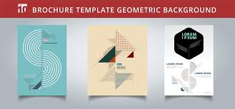 Set Template Geometric Covers Design You Can Use For Print