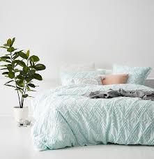 Home Republic - Kerela Quilt Cover Blue Glass - Bedroom Quilt ... & Save Adamdwight.com