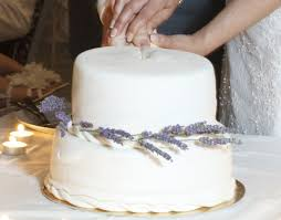 Lavender Flavored Wedding Cake