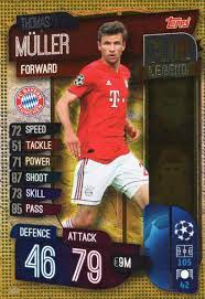 MATCH ATTAX 19/20 THOMAS MULLER CLUB LEGEND TRADING CARD - BAYERN MUNICH:  Amazon.co.uk: Toys & Games
