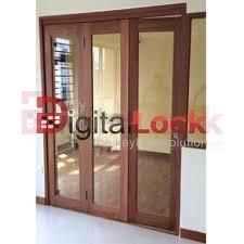 wooden folding door door glass design