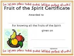 Certificate Template For Kids Free Printable Fruit Of The