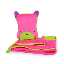 pillow and blanket set. trunki snoozihedz travel pillow and blanket - betsy (pink) set s