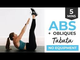 5 minute ab workout for women video