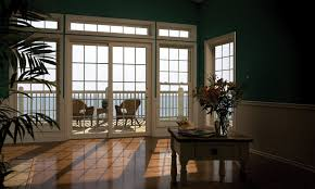 Exterior:Dazzling Home Interior With Dark Green Wall Paint And White  Sliidng Patio Doors With