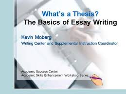 chapter writing effectively college writing skills types of the basics of essay writing kevin moberg writing center and supplemental instruction