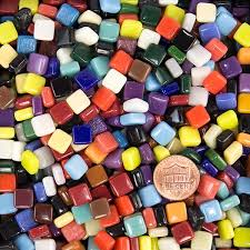 multicolor assortment 8mm recycled glass mosaic tile morjo brand