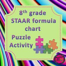Staar Formula Chart 8th Grade Staar Formula Chart Matching Activity 2 Versions