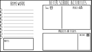 Homework To Do List After School Planner Printable Includes Homework Etsy