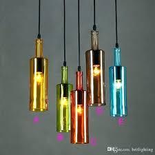 multi colored pendant lights ed s coloured glass