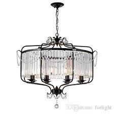 american crystal chandelier living room bedroom simple european villa restaurant lights crystal black bronze led chandeliers lamps fixture