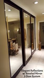 mirrored closet doors. ER With Beveled Mirror 3 Door System.jpg Mirrored Closet Doors R