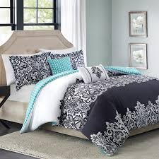Better Homes and Gardens Black and White Damask 5-Piece Comforter Set