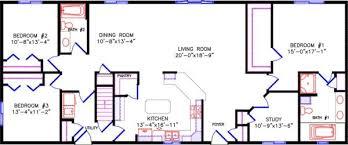 simple one story open floor plan