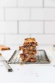 high fiber granola bars fork in the