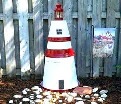 yard lighthouse outdoor decor wall light house solar led patio deck landscape nautical plans free statues