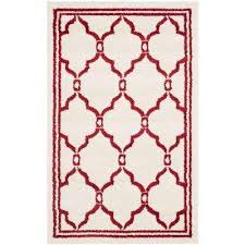 amherst ivory red 3 ft x 4 ft indoor outdoor area rug