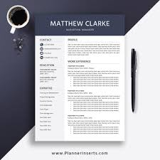 Entry Level Resume 2019 Cover Letter Office Word Resume Editable Resume Simple Professional Resume Instant Download Matthew Resume