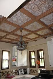decorative styrofoam ceiling tiles over popcorn ceiling faux styrofoam tile design painting diy crafts on