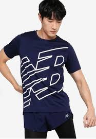 Shop New Balance <b>Printed Accelerate Short Sleeve</b> Tee Online on ...