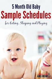 5 Month Old Baby Food Chart 5 Month Old Feeding Schedule For Baby