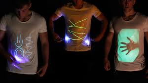 Interactive glow T-shirts with an unlimited drawing canvas. Use any laser  pen,