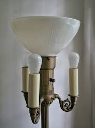 brushed nickel torchiere lamp with white bulbs