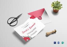 Printable Wedding Invitation 10 Best Printable Wedding Invitation Templates In Psd Word Illustrator
