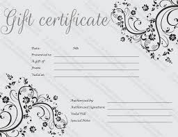 Microsoft Word Gift Certificate Templates Black Art Gift Certificate Template