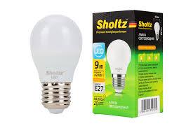 <b>Лампа светодиодная шар SHOLTZ</b> 9Вт E27 2700К 220В