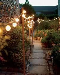 outdoor lighting ideas outdoor. Galvanized Buckets + Metal Poles String Lights \u003d Portable Garden Lighting Outdoor Ideas I