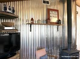 how to install a diy corrugated metal wall treatment the weekend country girl featured on