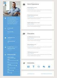 material online resume template