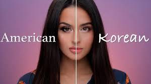 american vs korean makeup tutorial you