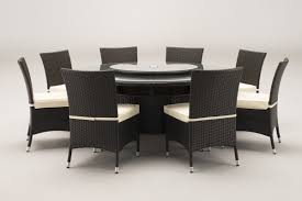 round kitchen table set. Windsor 1.7 Metre Round Brown Rattan Dining Table And 8 Chairs Set Windsor-8 Kitchen