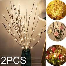 Đèn LED 20 bóng dùng pin thiết kế nhánh cây cho trang trí nhà cửa chính hãng