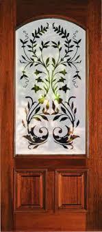 etched glass door frosted glass door