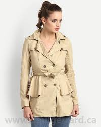 designs women winterwear lose yourself trench coat qk55297 on fastening at front peplum waist collar notch collar by clothing