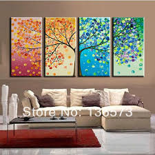 4 piece canvas wall art large 4 ppieces canvas art cheap modern abstract wall panel 4 season tree artwork picture oil painting home decoration on large 4 piece wall art with wall art designs 4 piece canvas wall art large 4 ppieces canvas art