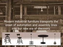 industrial furniture style. chic industrial style furniture inspired by the revolution
