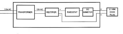 batterycharger bridge rectifier 1 to 4 amp 50 to 200 volt rating 50 rheostat 40 to 80 ohm 25 or 50 watt rating